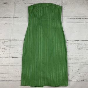Express pinstripe strapless sheath dress V16